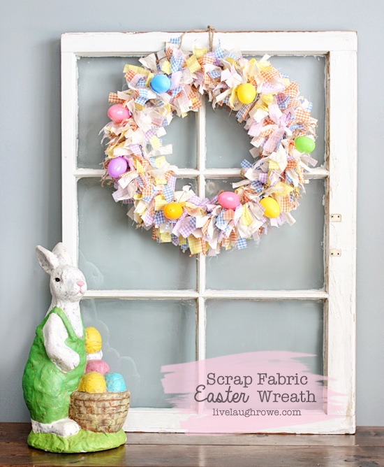 """<p>Drowning in leftover fabric from another Easter crafting project? Put patterned strips to good use—just brace yourself for <em>lots</em> of tying. </p><p><strong>Get the tutorial at <a href=""""https://livelaughrowe.com/scrap-fabric-easter-wreath/"""" rel=""""nofollow noopener"""" target=""""_blank"""" data-ylk=""""slk:Live Laugh Rowe"""" class=""""link rapid-noclick-resp"""">Live Laugh Rowe</a>. </strong></p><p><strong><a class=""""link rapid-noclick-resp"""" href=""""https://www.amazon.com/Darice-Metal-Floral-Wreath-170140/dp/B0054G5JLA/?tag=syn-yahoo-20&ascsubtag=%5Bartid%7C10050.g.4088%5Bsrc%7Cyahoo-us"""" rel=""""nofollow noopener"""" target=""""_blank"""" data-ylk=""""slk:SHOP WREATH FRAME"""">SHOP WREATH FRAME</a><br></strong></p>"""