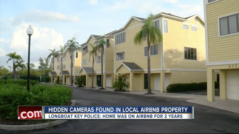 The couple said they were never informed that they'd be filmed inside of the rental, pictured among these townhouses. (WFTS)