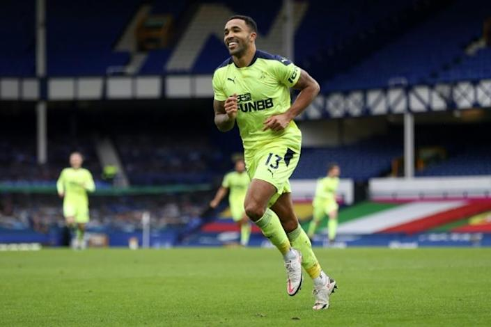 On the front foot: Newcastle striker Callum Wilson