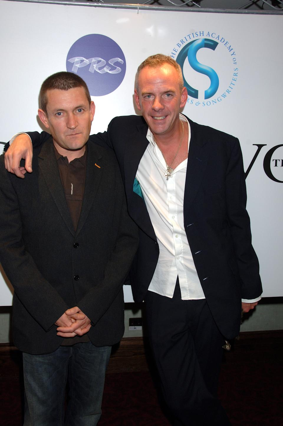 Ivor Novello Awards At The Grosvenor House Hotel, London, Britain - 24 May 2007, Paul Heaton And Norman Cook (Photo by Brian Rasic/Getty Images)