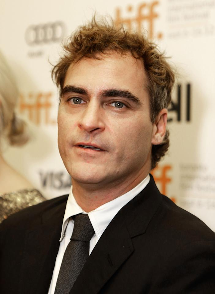That's okay Joaquin Phoenix. We don't like getting our picture taken, either.