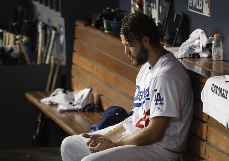 Clayton Kershaw and the Dodgers twice fell in the World Series to teams embroiled in baseball's sign-stealing scandal. (AP Photo/Jae C. Hong)