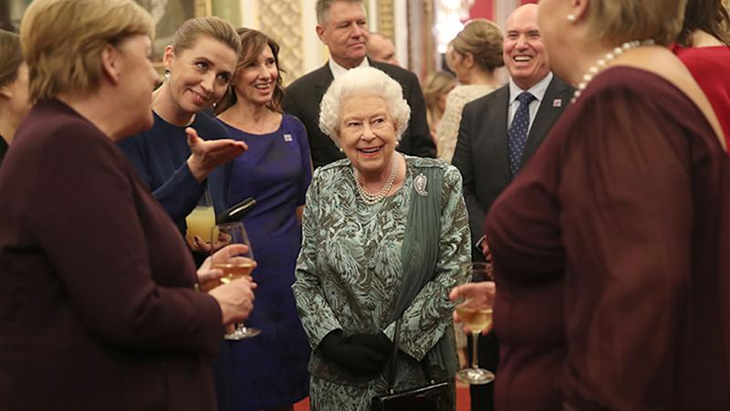 Queen Elizabeth stepped out to greet world leaders. Photo: Getty Images