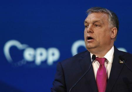 Hungarian Prime Minister Viktor Orban takes part in a European People Party summit in St Julian's