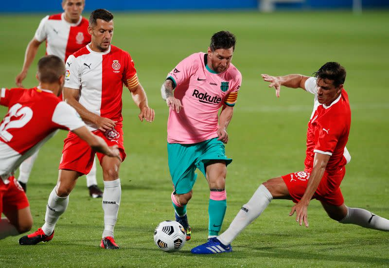 Messi at the double as improved Barca beat Girona in friendly