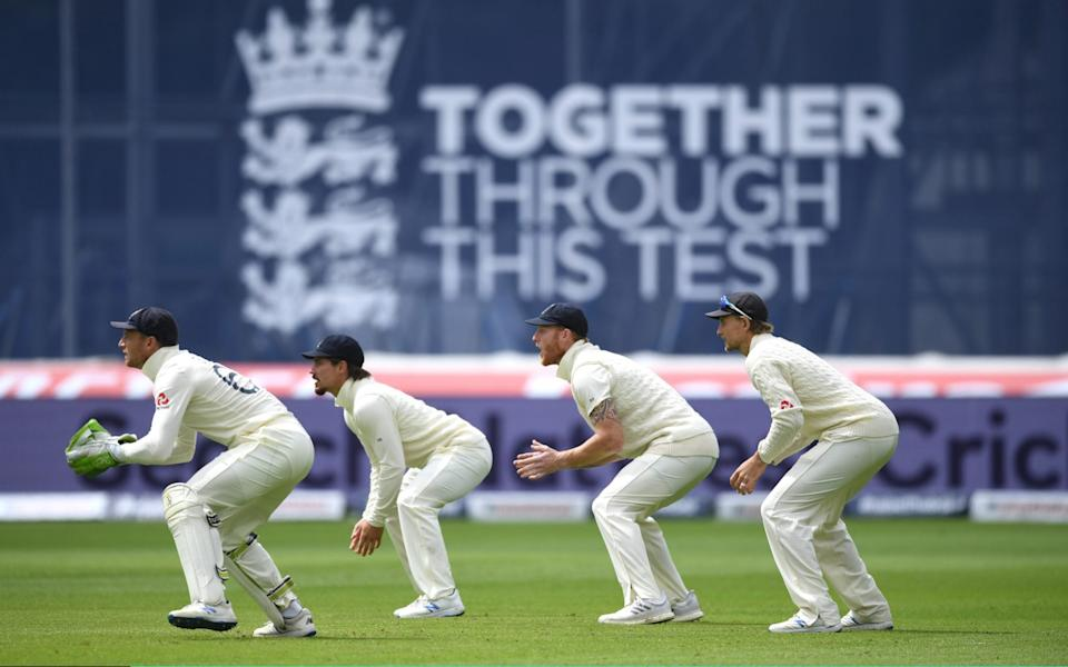 Jos Buttler, Rory Burns, Ben Stokes and Joe Root of England  - Getty Images