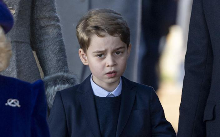 <p>Prince George made his debut on Christmas Day in a suit alongside his sister Princess Charlotte. </p>
