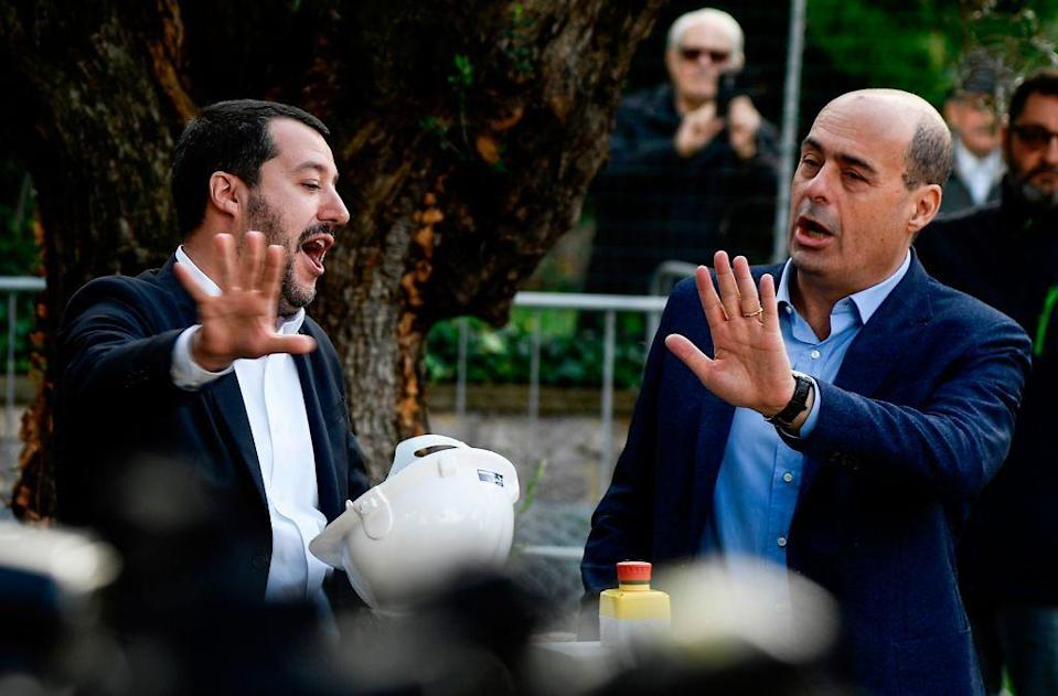 Salvini e Zingaretti (Photo: Getty)