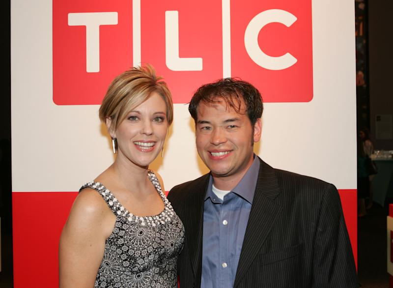 NEW YORK, NY - APRIL 23: Television personalities John and Kate Gosselin attend the Discovery Upfront Presentation NY - Talent Images at the Frederick P. Rose Hall on April 23, 2008 in New York City.(Photo by Thos Robinson/Getty Images for Discovery)