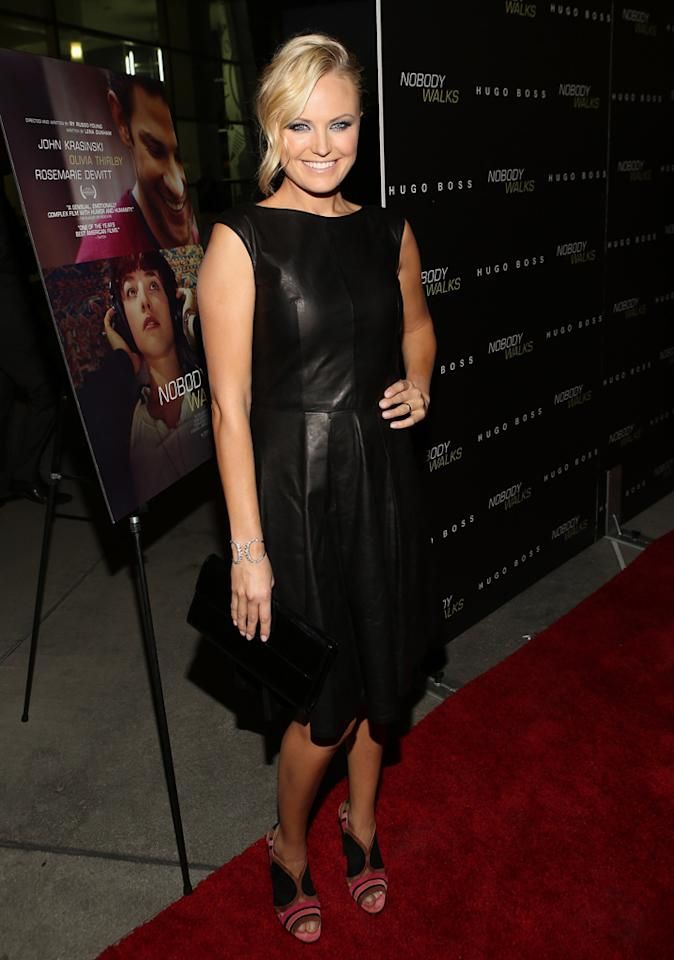 HOLLYWOOD, CA - OCTOBER 02:  Actress Malin Akerman arrives at the Los Angeles premiere of 'Nobody Walks' at the ArcLight Hollywood on October 2, 2012 in Hollywood, California.  (Photo by Jesse Grant/WireImage)