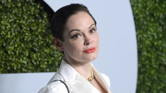 Rose McGowan is calling out powerful men in Hollywood who she says knew about Harvey Weinstein's alleged sexual assault and serial harassment of women in the industry, but kept quiet.