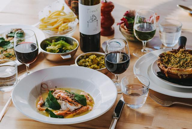 The gourmet food at HIX Oyster & Fish House. [Photo: HIX Oyster & Fish House]