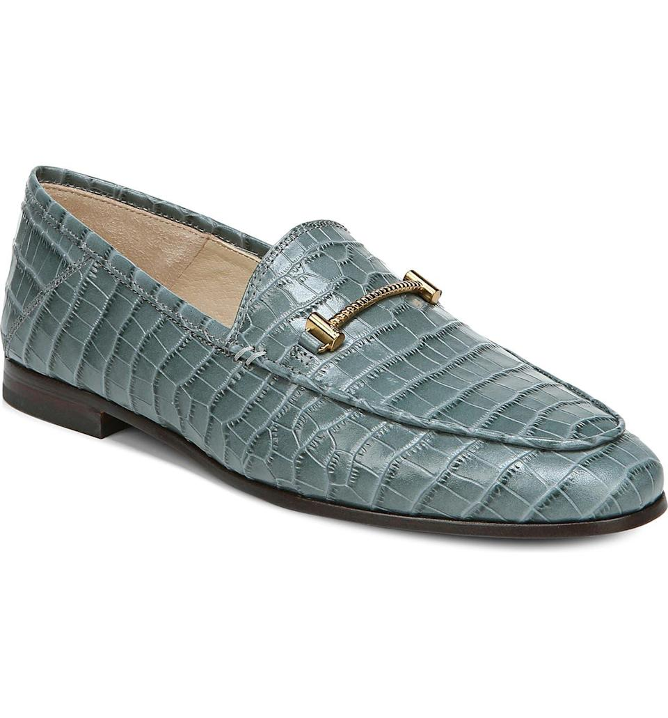"""<strong><h2>Sam Edelman Lior Loafer</h2></strong><br><strong>Why It's A Best Buy</strong>: Having grown accustomed to the slip-on footwear lifestyle, we now need our outside shoes to match our inside shoes in their on-off ease. Enter: the loafer. It's a chic, polished silhouette that can worn as the mercury slowly inches up this spring. This particular (on-sale) Sam Edelman pair is <a href=""""https://refinery29.com/en-us/what-to-buy-with-100-dollars#slide-13"""" rel=""""nofollow noopener"""" target=""""_blank"""" data-ylk=""""slk:vouched for by our beauty and wellness writer, Karina Hoshikawa"""" class=""""link rapid-noclick-resp"""">vouched for by our beauty and wellness writer, Karina Hoshikawa</a>, and has been carted hundreds of times by readers.<br><br><strong>The Review</strong>: """"It's widely known among friends, family, and the R29 Shopping team that forest green is my signature color, so when I stumbled upon these croc-leather loafers, it was as if time stood still. I'd been in the market for cute, versatile loafers I could wear with everything (but would also upgrade any 'fit), and these Sam Edelman ones fit the bill."""" — Karina Hoshikawa, Refinery29 Beauty and Wellness Editor<br><br><strong>Sam Edelman</strong> Lior Loafer, $, available at <a href=""""https://go.skimresources.com/?id=30283X879131&url=https%3A%2F%2Fwww.nordstrom.com%2Fs%2Fsam-edelman-lior-loafer-women%2F5791750"""" rel=""""nofollow noopener"""" target=""""_blank"""" data-ylk=""""slk:Nordstrom"""" class=""""link rapid-noclick-resp"""">Nordstrom</a>"""