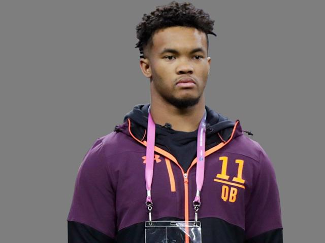 Oklahoma quarterback Kyler Murray was weighed but not measured at his pro day, and he opted to throw but not run a 40-yard dash. (AP)