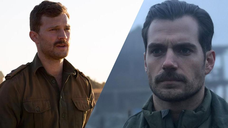 <p>Jamie Dornan is Christian Grey from <em>50 Shades</em>, Henry Cavill has the most famous moustache in the world (he's also the current Superman). </p>