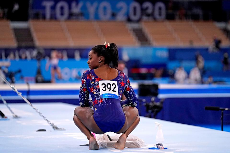 Simone Biles is the most decorated gymnast, male or female, at the world championships with 25 medals, 19 of them gold.