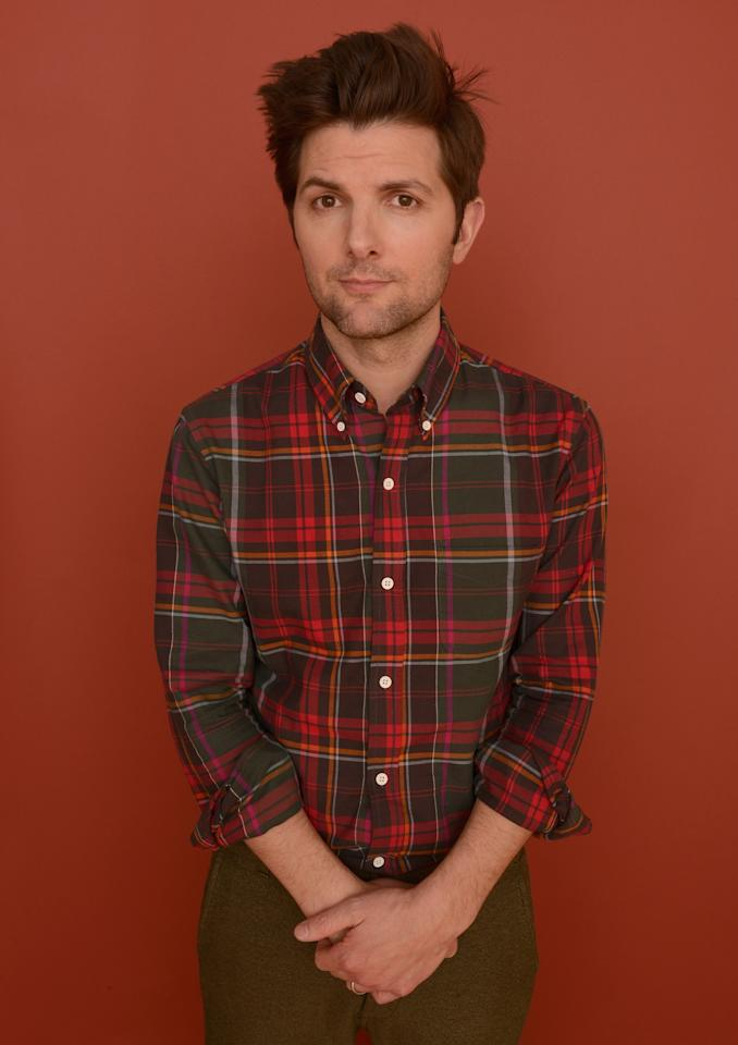 PARK CITY, UT - JANUARY 23:  Actor Adam Scott poses for a portrait during the 2013 Sundance Film Festival at the Getty Images Portrait Studio at Village at the Lift on January 23, 2013 in Park City, Utah.  (Photo by Larry Busacca/Getty Images)