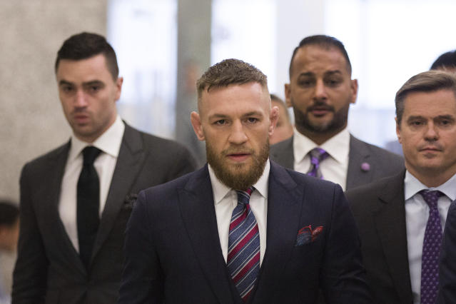 Mixed martial arts fighter Conor McGregor said he hopes he will return to the UFC in 2018 and believes the fight will be held in Las Vegas. (AP Photo)