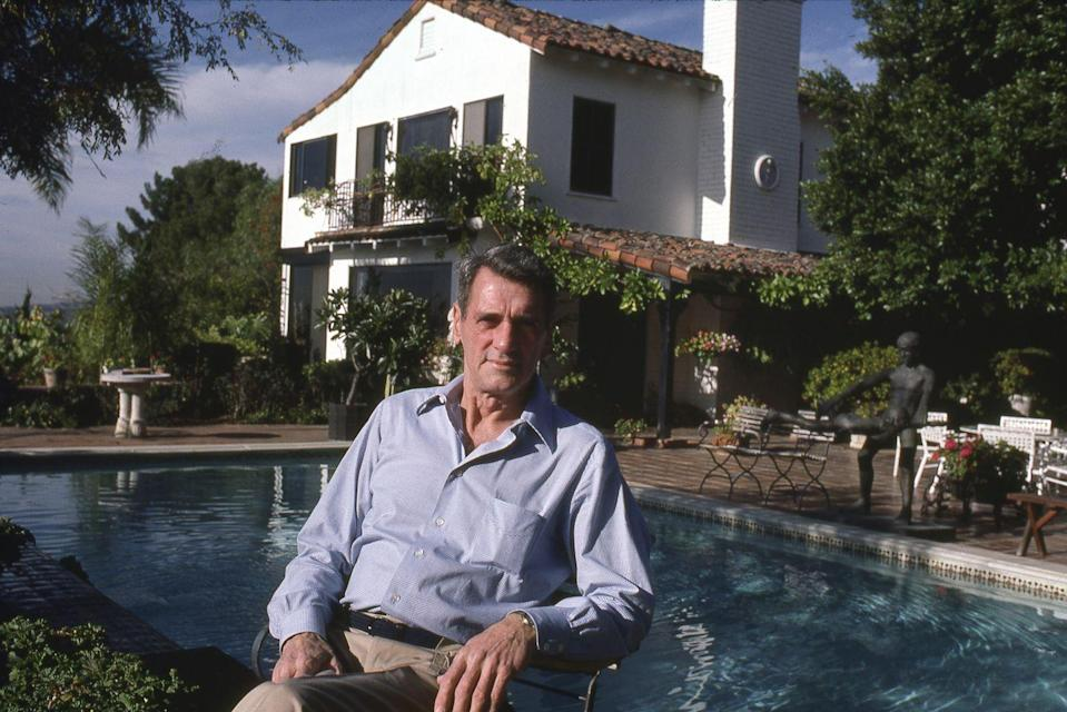 <p>Hudson was photographed at his Beverly Hills home at the end of his life. The actor tragically died of AIDS that year. </p>