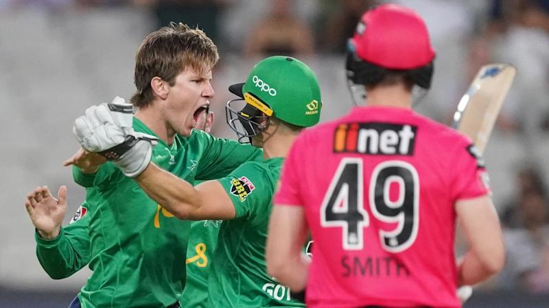 Stars legspinner Adam Zampa took three Sixers wickets including the prized scalp of Steve Smith