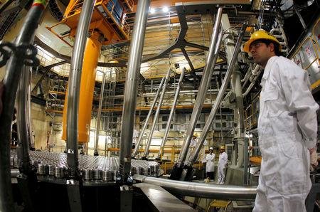 FILE PHOTO: A view of the inside of a reactor at the Atucha II nuclear power plant in Zarate, Argentina, September 28, 2011.   REUTERS/Enrique Marcarian/File photo