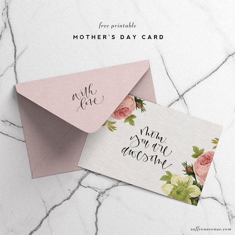 "<p>Cursive isn't going out of style any time soon, and this is truly elegant card for any elegant mother.</p><p><em><strong>Get the printable from <a href=""https://saffronavenue.com/blog/tutorials-freebies/free-printable-mothers-day-card/"" rel=""nofollow noopener"" target=""_blank"" data-ylk=""slk:Saffron Avenue."" class=""link rapid-noclick-resp"">Saffron Avenue.</a></strong></em></p>"