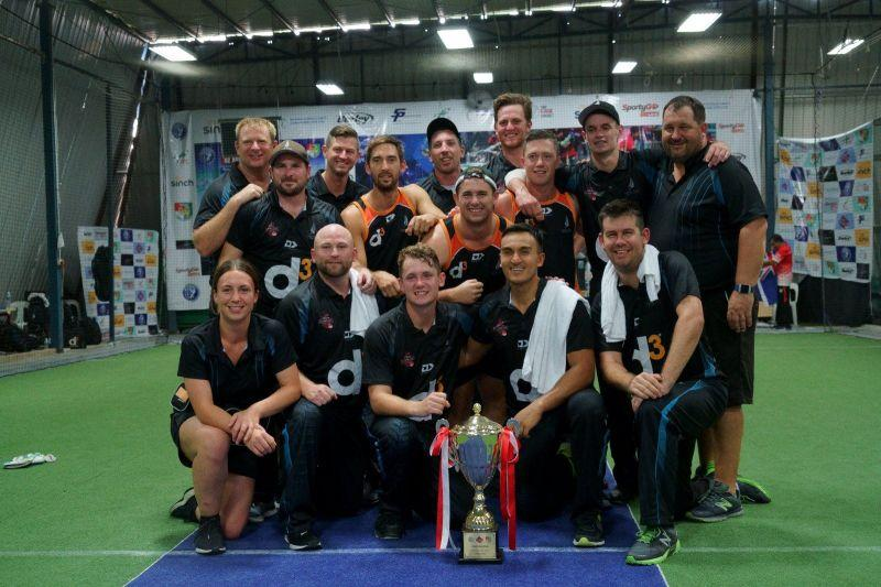 The victorious New Zealand team pose with the NZ-Asia Cup Trophy (Image Courtesy: Singapore Cricket Association)