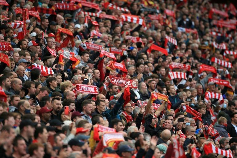Anfield was at full capacity for a competitive game for the first time since March 2020