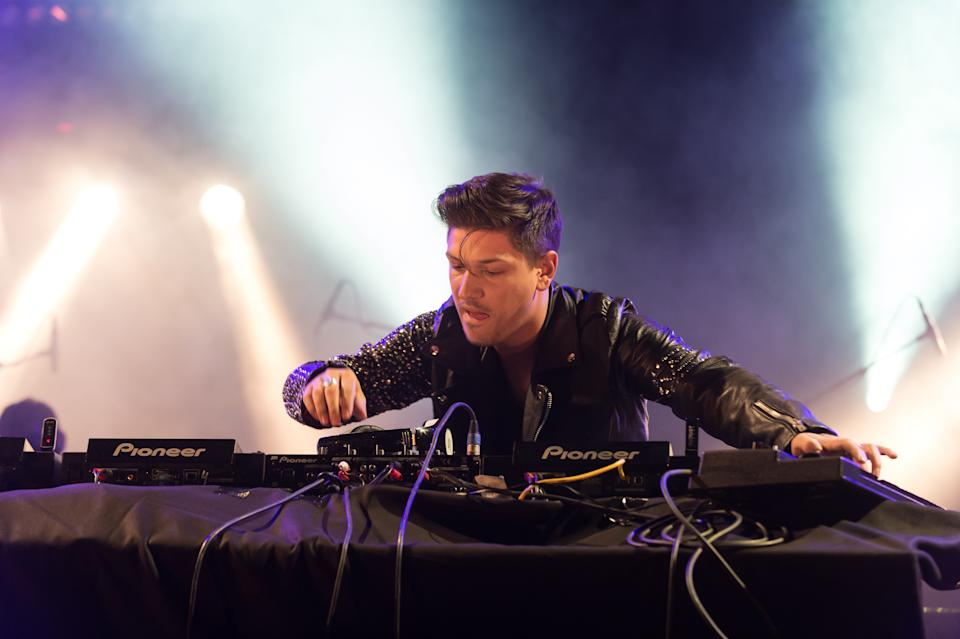 SWITZERLAND, GENEVA - MAY 18: Quentin Mosimann performing live at the 'Fete de l'espoir' meaning 'Celebration hope' of Geneva on May 18, 2013 in Geneva in Switzerland. (Photo by Lionel Flusin/Gamma-Rapho via Getty Images)