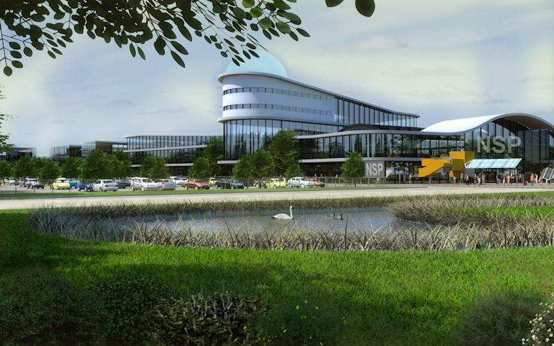 "Artist's impression of Leicester University's ""space campus"" - Credit: Leicester University"