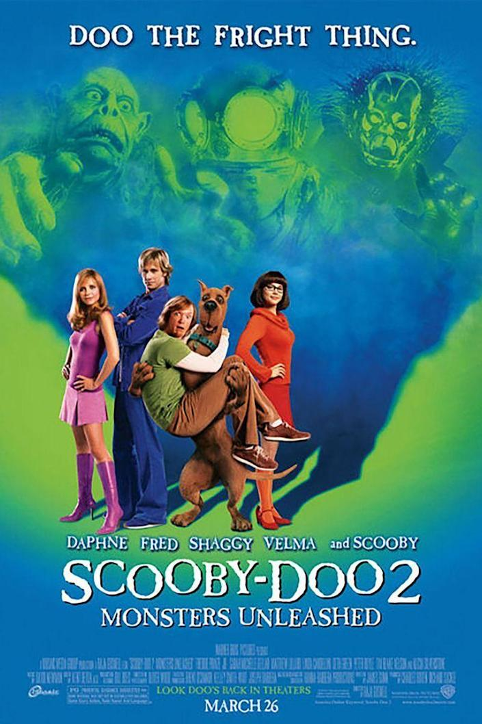 """<p><a class=""""link rapid-noclick-resp"""" href=""""https://www.amazon.com/Scooby-Doo-Unleashed-Jr-Freddie-Prinze/dp/B0091X7RE4/?tag=syn-yahoo-20&ascsubtag=%5Bartid%7C10070.g.3104%5Bsrc%7Cyahoo-us"""" rel=""""nofollow noopener"""" target=""""_blank"""" data-ylk=""""slk:STREAM ON AMAZON"""">STREAM ON AMAZON</a> </p><p>In this live-action sequel, the gang comes together to save Coolsville from monsters... again. Just a day in the life, I guess! </p>"""