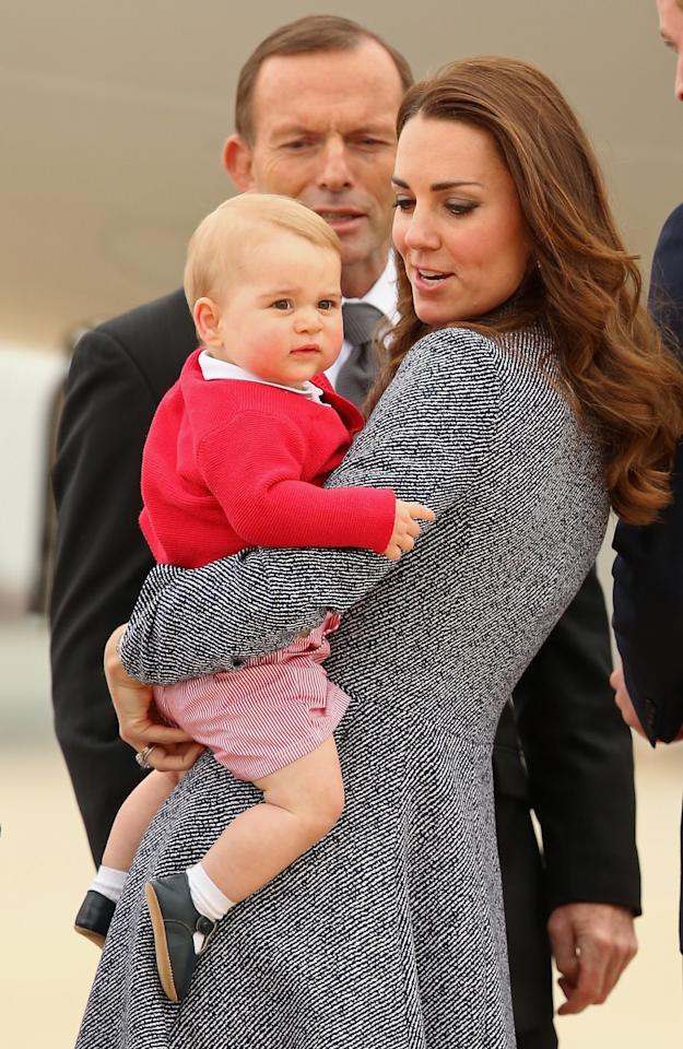<p>At only nine months, Prince George looked adorable on his very first royal tour through Australia and New Zealand. [Photo: Getty] </p>