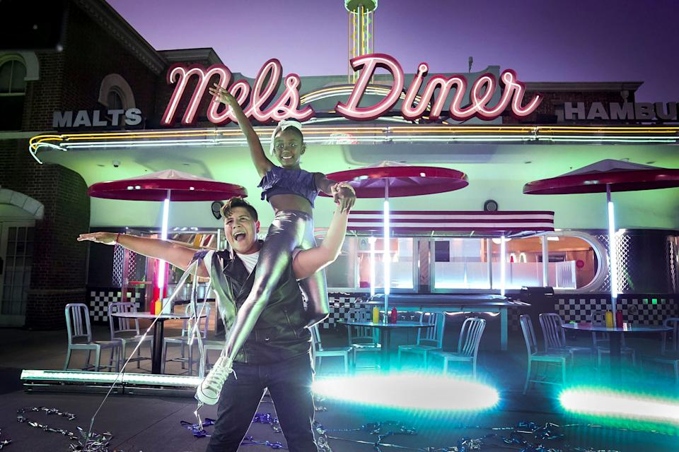 'America's Got Talent' quarterfinalists Simon & Maria perform in this exclusive photo from a pre-taping at Mel's Diner at Universal Studios Hollywood.