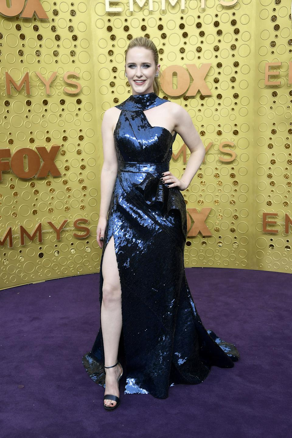 """<h1 class=""""title"""">Rachel Brosnahan in Elie Saab and Jimmy Choo shoes</h1><cite class=""""credit"""">Photo: Getty Images</cite>"""