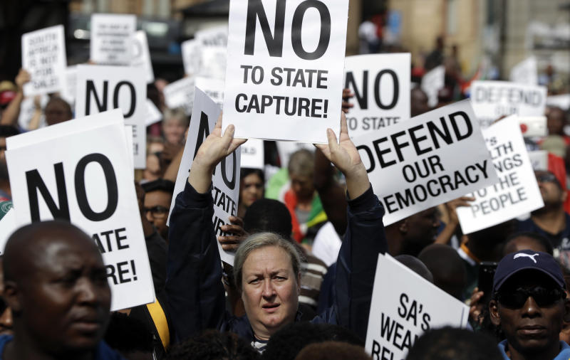 South Africans hold nationwide protests against President Jacob Zuma