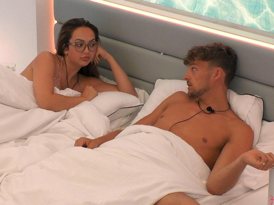 'Love Island' star Sharon became friends with Hugo after a big row (ITV)