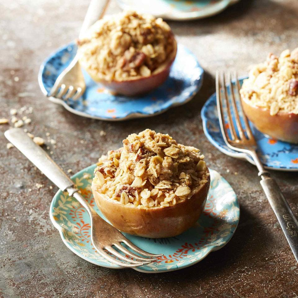 <p>This apple dessert marries the best parts of apple crisp with a baked apple to make an adorable and tasty sweet treat. Cooking an apple crisp inside an apple is a wonderful treat in summer with a scoop of ice cream, or in fall after an apple-picking trip.</p>