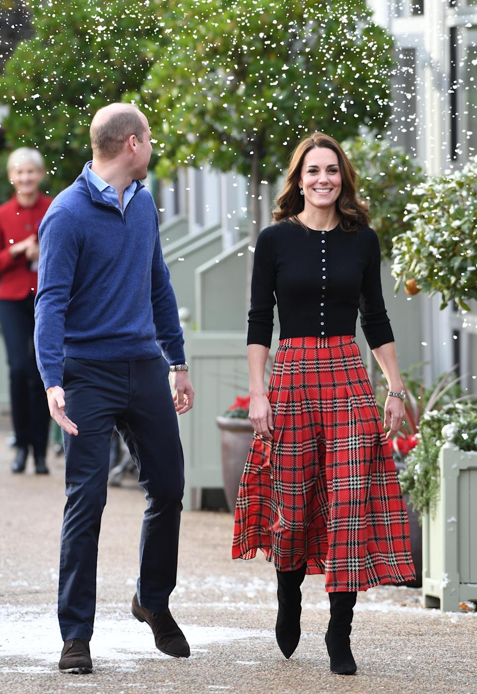 William and Kate at the Christmas party on Tuesday (Getty)