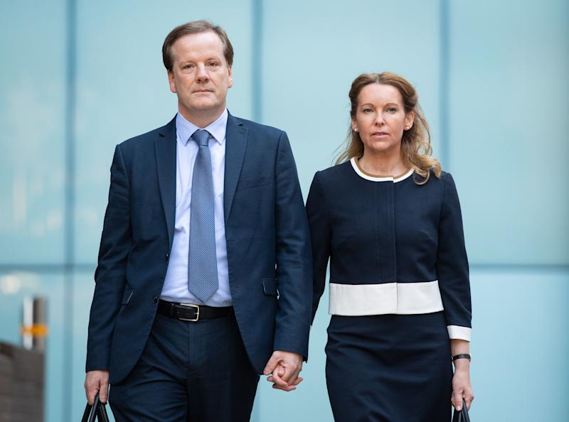 Natalie Elphicke had accompanied the ex-MP to court but ended the marriage after his conviction. (PA)