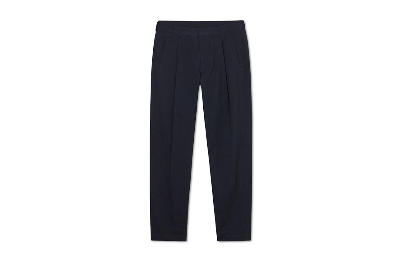 "$125, Entireworld. <a href=""https://theentireworld.com/men/product/trousers-mens-type-b-version-2-navy"">Get it now!</a>"