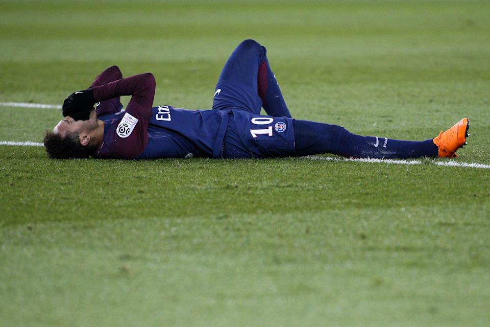 Neymar injured his ankle against Marseille just nine days before a crucial Champions League match against Real Madrid. (Getty)