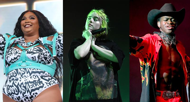 Lizzo, Billie Eilish and Lil Nas X are the three acts to beat at the Grammy Awards 2020. (Photo: Getty Images)