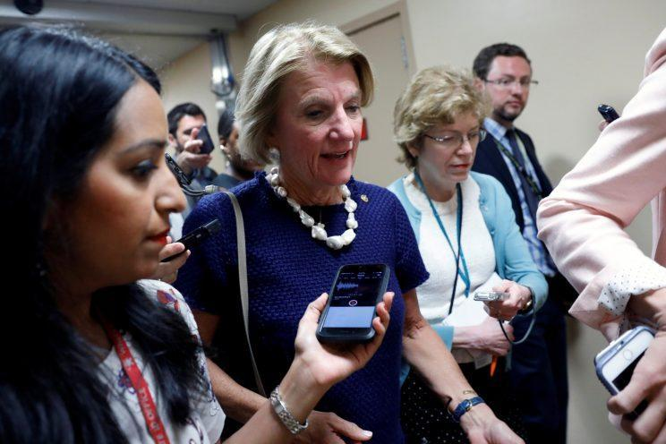 Sen. Shelley Moore Capito, R-W.Va., speaks with reporters about the Senate health care bill on Capitol Hill in Washington, D.C., on July 12, 2017. (Photo: Aaron P. Bernstein/Reuters)