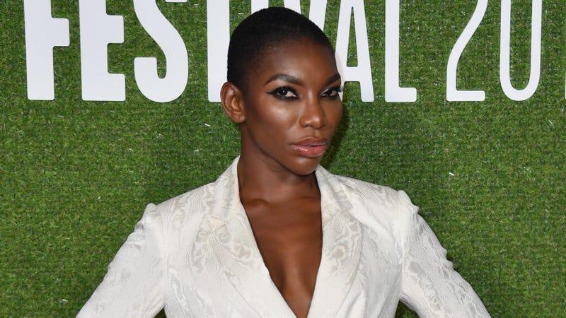 Michaela Coel attends the 62nd BFI London Film Festival on October 12, 2018 in London, England.