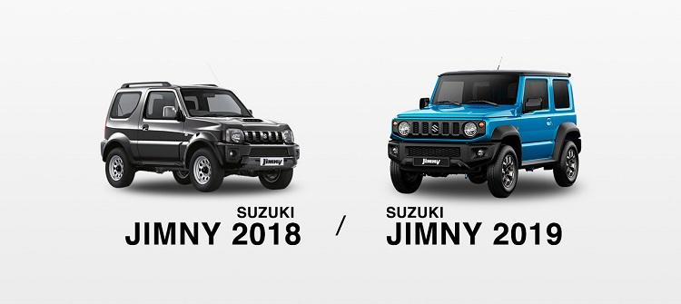 Car Comparison 2018 Vs 2019 Suzuki Jimnyout With The Old In With