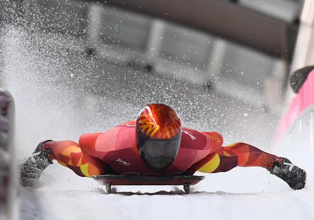 <p>The classic flames look is always a good one for any sport requiring speeds, and skeleton riders can eclipse 80 miles per hour on the mountain. </p>