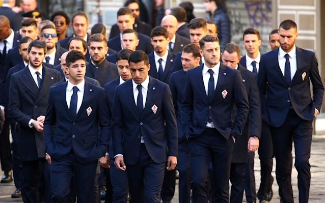 <p>Thousands of Fiorentina fans have gathered for the funeral of former captain Davide Astori. A number of famous faces from the world of Italian football were also on hand to pay their respects to the defender. </p>