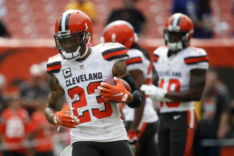 The Browns cut Joe Haden after seven seasons with them. (AP)