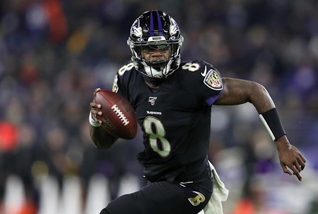 Lamar Jackson is the NFL MVP, but the Baltimore Ravens are a talented team all over the field. (Photo by Patrick Smith/Getty Images)