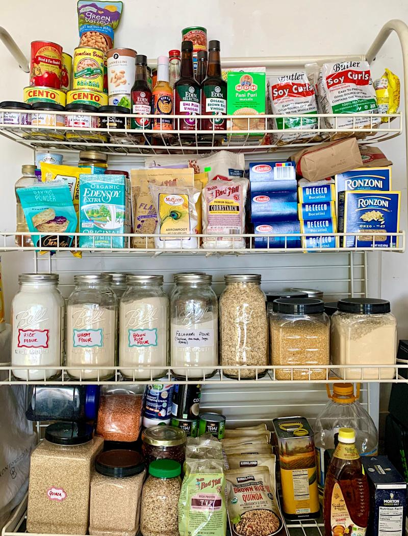 Store ingredients that you use less often on higher shelves or on the backs of shelves. (Photo: Palak Patel)